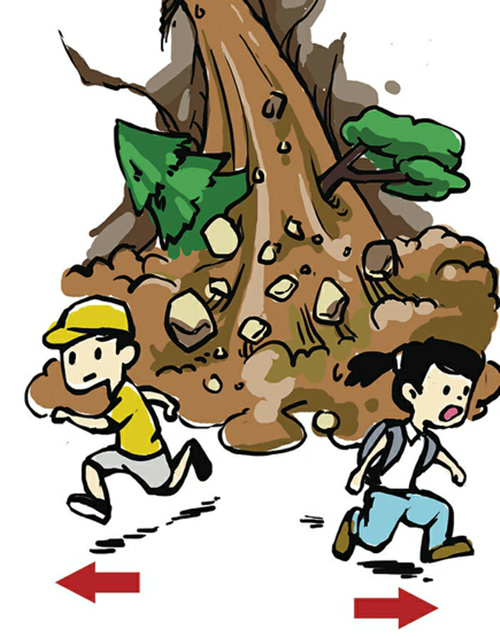 泥石流灾害自救对策图片