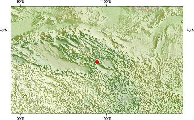 青海省天峻县发生3.9级地震