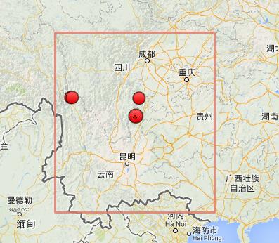 云南鲁甸地震震中附近历史地震图片