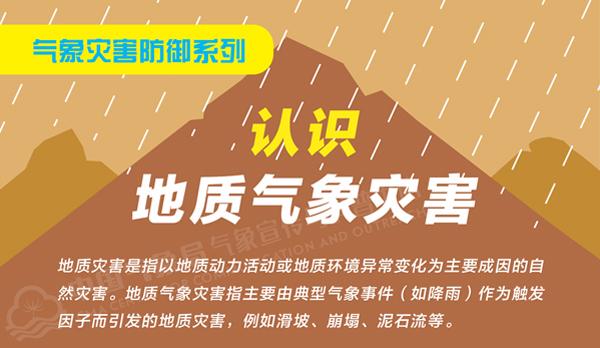 气象灾害防御科普系列:认识地质气象灾害。(中央气象台供图)