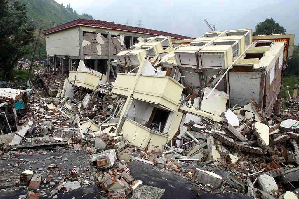 四川汶川地震遗迹